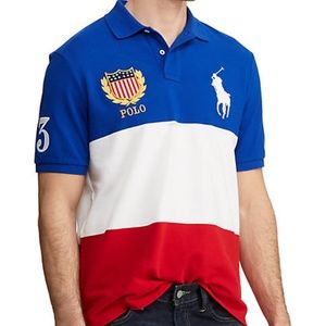 Ralph Lauren Striped Big Pony Crested Polo Shirt